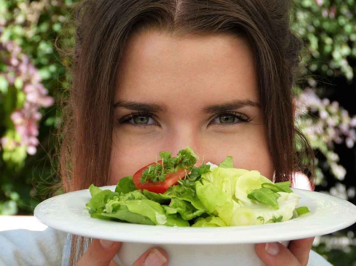 sla eten vrouw